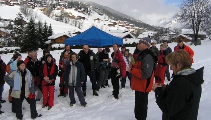 team building la clusaz challenge des neiges