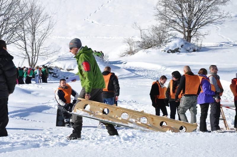 luge geante team building